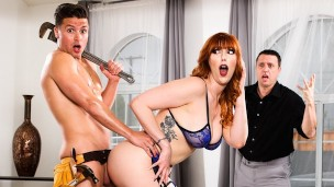 Redhead Lauren Phillips found out pumbler's cock is better than husband